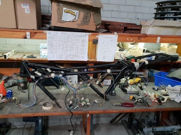 BMW K75 Cafe Racer Build 7