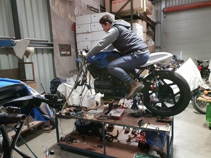 BMW K75 Cafe Racer Build 10