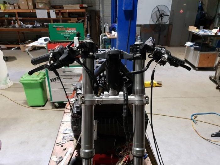 BMW K75 Cafe Racer Build 11
