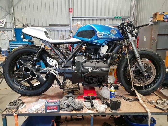 BMW K75 Cafe Racer Build 13