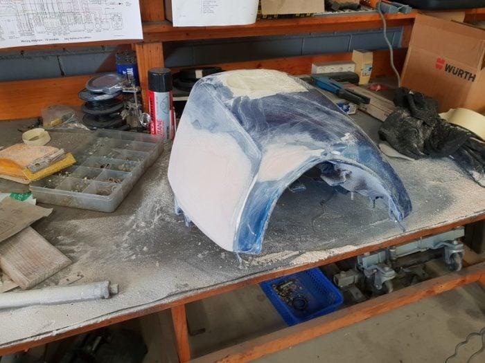 BMW K75 Cafe Racer Build 14