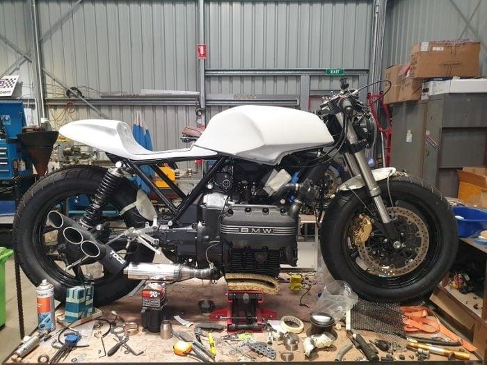 BMW K75 Cafe Racer Build 24