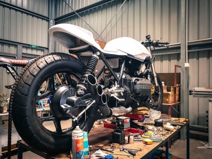 BMW K75 Cafe Racer Build 25