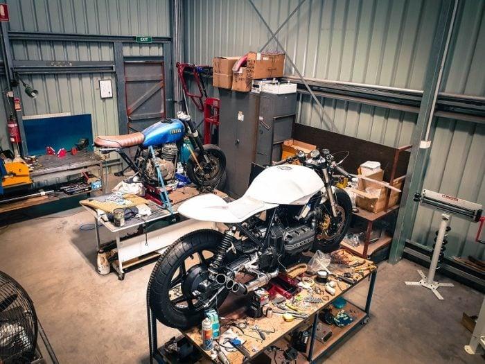 BMW K75 Cafe Racer Build 26