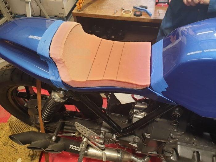 BMW K75 Cafe Racer Build 29