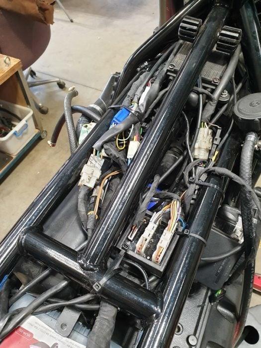 BMW K75 Cafe Racer Build 37
