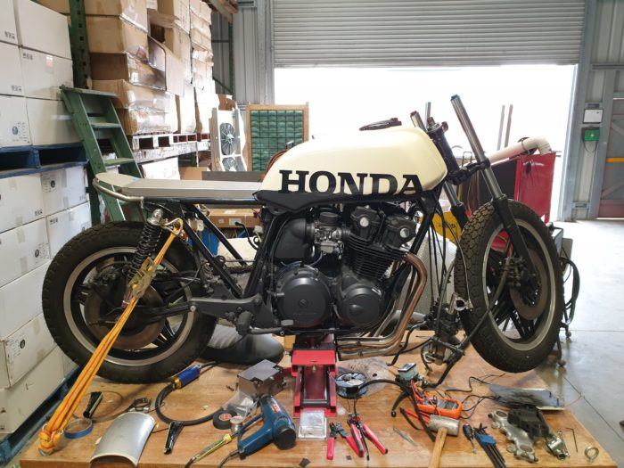 Honda CB750 F Cafe Racer Build 3