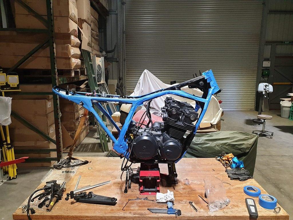 Honda CB750 F Cafe Racer Build 37