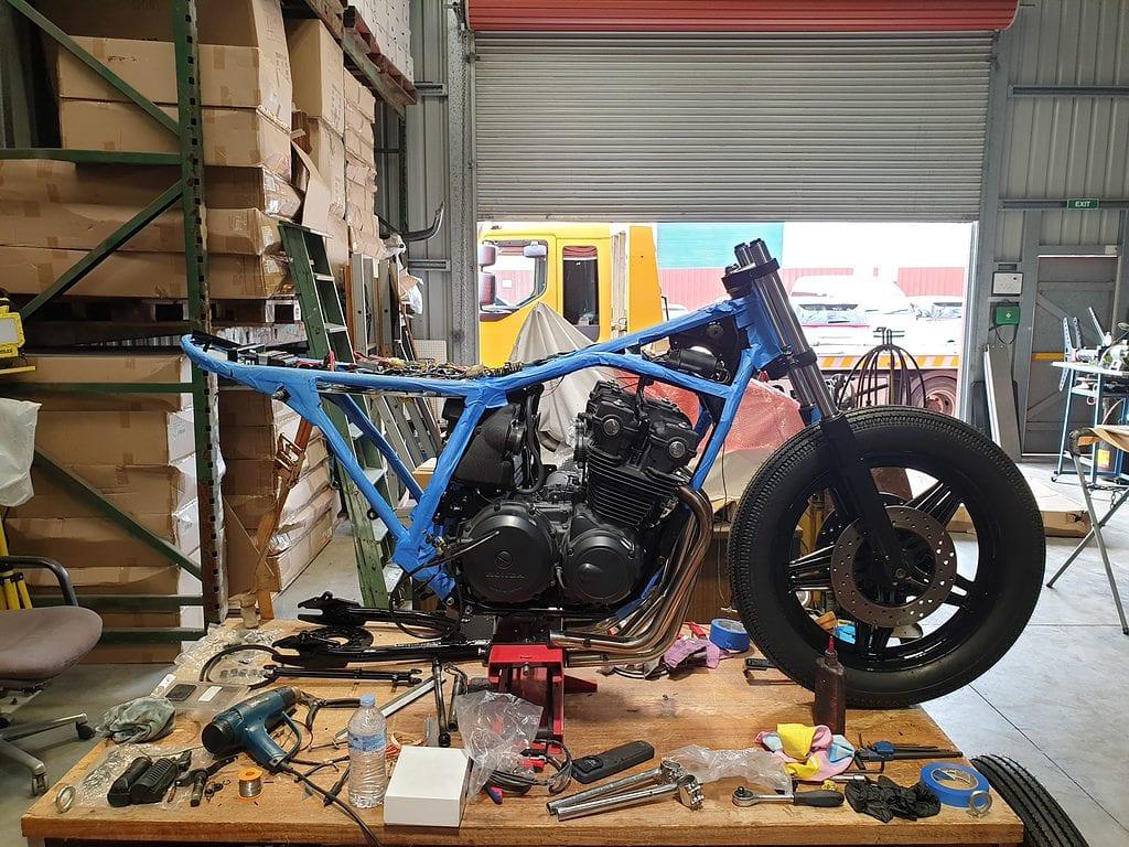 Honda CB750 F Cafe Racer Build 38