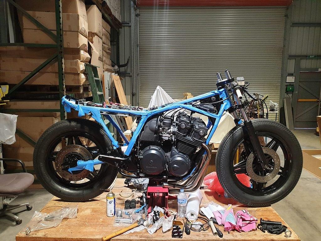 Honda CB750 F Cafe Racer Build 41