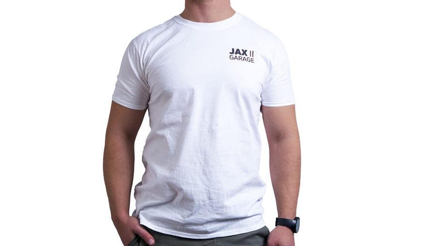 JAX Garage - White Lifestyle Tee 1