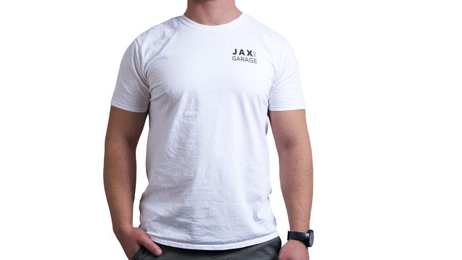 JAX Garage - White Lifestyle Tee 2 1