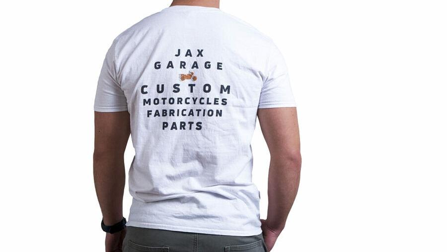 JAX Garage - White Lifestyle Tee 2 2