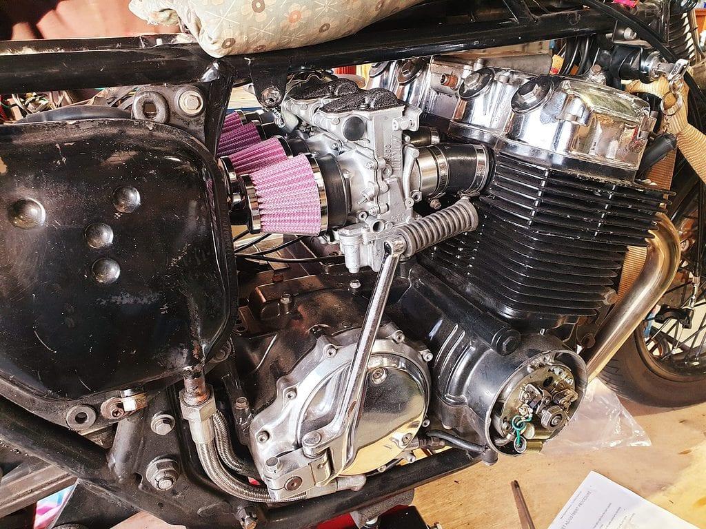 72 CB750 Cafe Racer Build 3