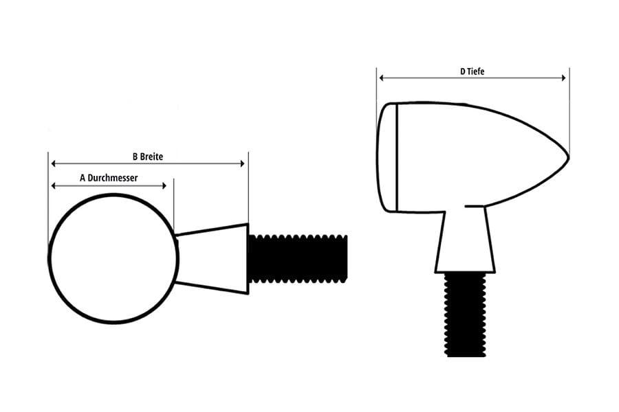 Highsider LED flasher micro-bullet indicators 6