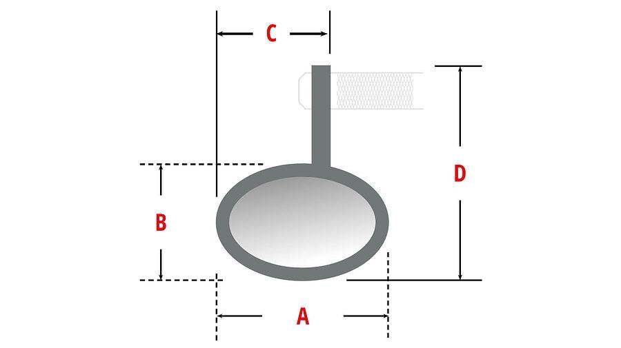 HIGHSIDER MONTANA handlebar end mirror with LED turn signal 4