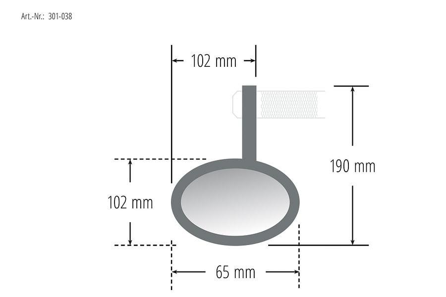 HIGHSIDER CONERO handlebar end mirror with LED turn signal 4