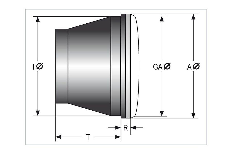 HIGHSIDER LED 5 3/4-inch Type 10 Headlight 6
